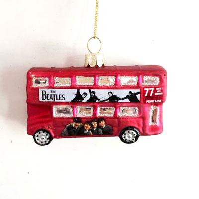 RED DOUBLE DECKER BUS ORNAMENT