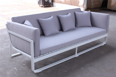 OUTDOOR GREY 3 SEATER SOFA