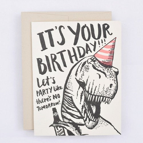 Trex Birthday Card - iDecorate