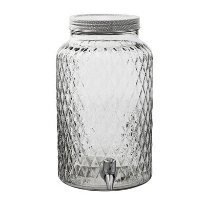 GLASS JAR DRINKS DISPENSER