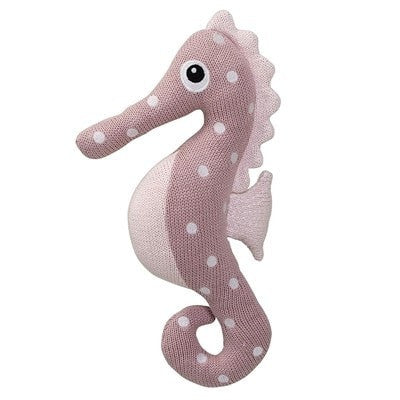 KNITTED SEAHORSE, ROSE PINK