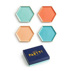 LET'S PARTY COASTER SET OF 4