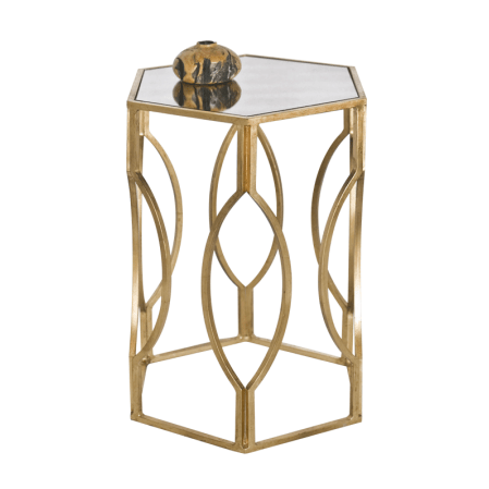 MORROCO GOLD SIDE TABLE