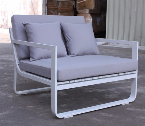 ELEGANT GREY 2 SEATER ARM CHAIR - iDecorate