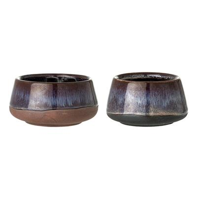 MULTI-COLOUR STONEWARE VOTIVE (SET OF 2)