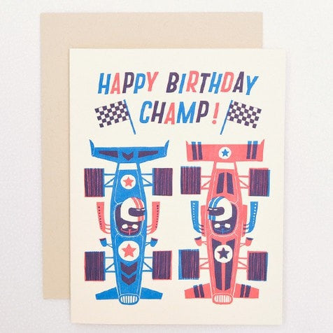 BIRTHDAY CHAMP CARD - iDecorate