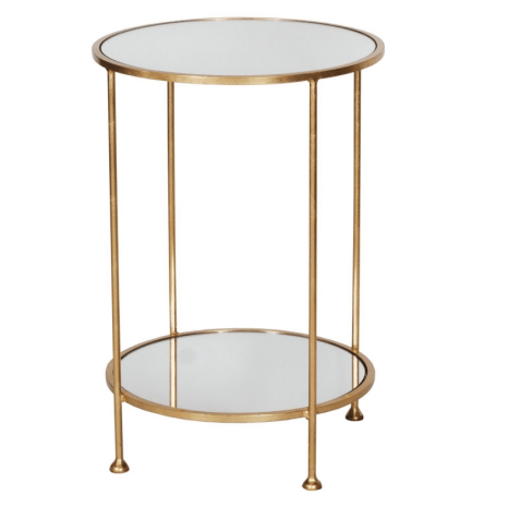 CHICO GOLD SIDE TABLE