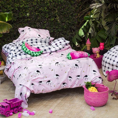 PINK FLAMINGO QUILT COVER - iDecorate