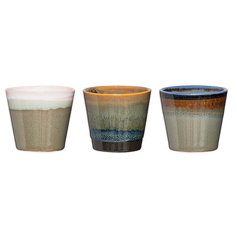 STONEWARE VOTIVE ASSORTED SET OF 3