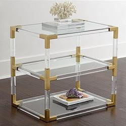 ACRYLIC AND STAINLESS STEEL SMALL SHELF