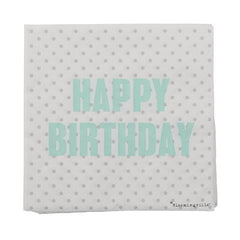 HAPPY BIRTHDAY NAPKINS - iDecorate