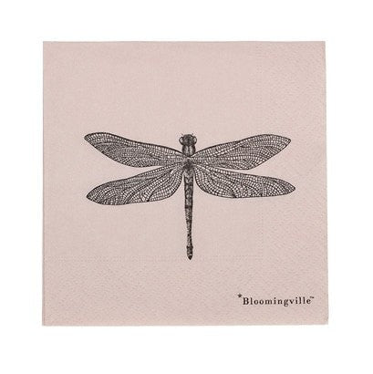 DRAGONFLY PAPER NAPKIN, ROSE