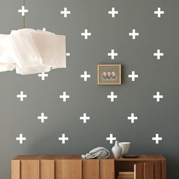 PLUS SIGN WALL DECAL