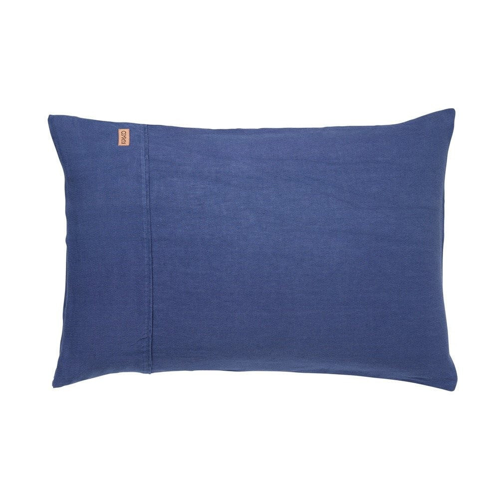 INDIGO LINEN PILLOWCASE SET OF 2