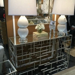 JACOB SILVER CONSOLE TABLE