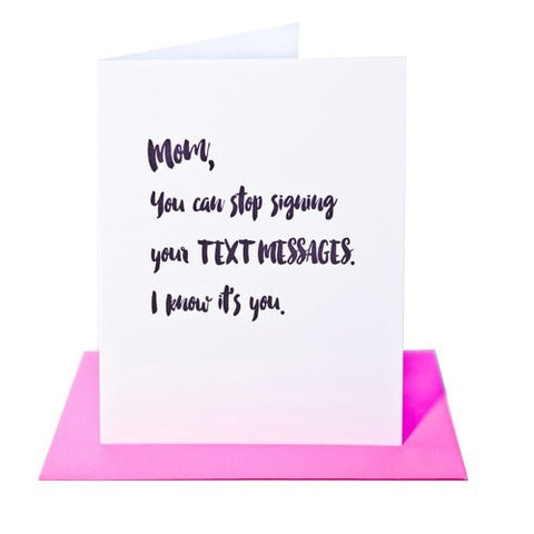 MOM TEXT MESSAGES CARD