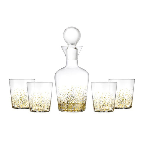 GOLD LUSTER DECANTER SET