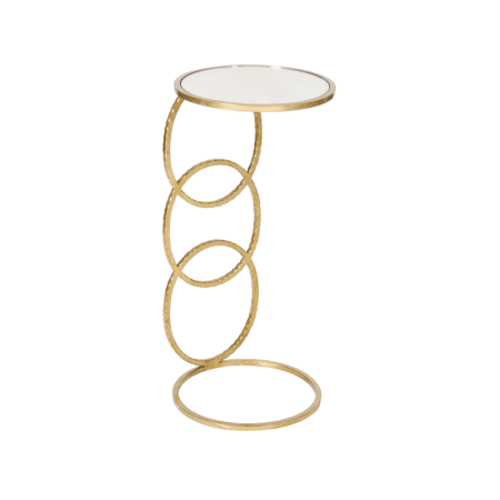 LOLA GOLD SIDE TABLE