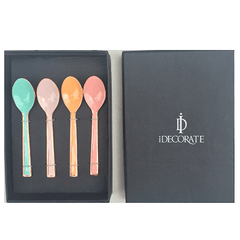 SET OF 4 COPPER PASTEL TEASPOONS