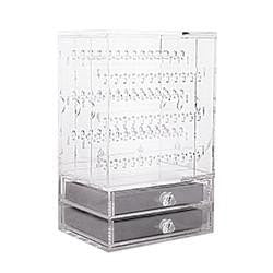 ACRYLIC JEWELLERY BOX (2 LAYERS) WITH STANDS