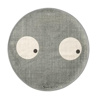 GREY SIDE EYES COTTON RUG