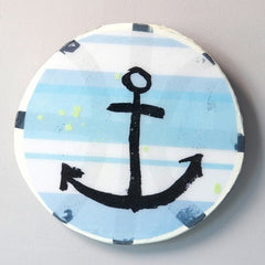 Anchor Stripe Large Porthole - iDecorate