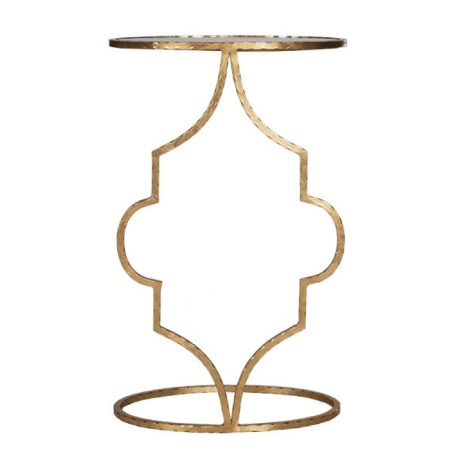 WILLA GOLD SIDE TABLE