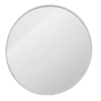 WHITE METAL MIRROR