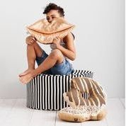 KRISPY DREME METALLIC ZIG ZAG CUSHION