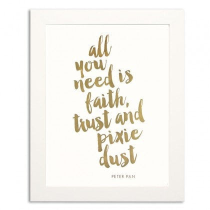 PIXIE DUST GOLD FOIL PRINT