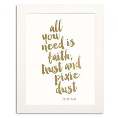 PIXIE DUST GOLD FOIL PRINT - iDecorate