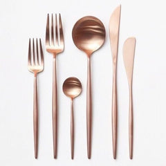 ROSE GOLD CUTLERY SET 6PCS