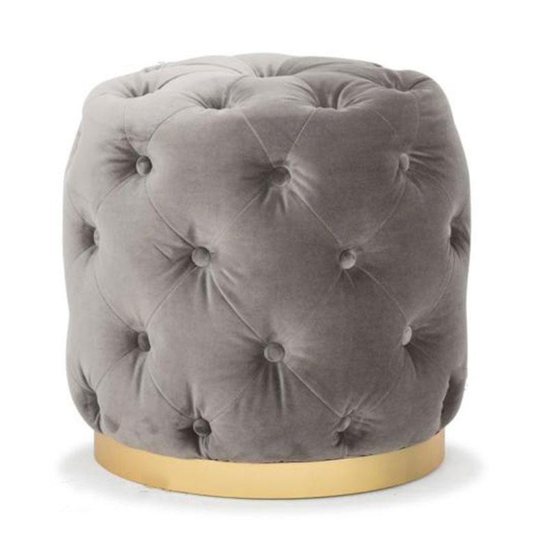PIN CUSHION VELVET STOOL