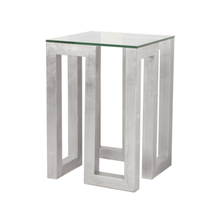 EVAN SILVER SIDE TABLE