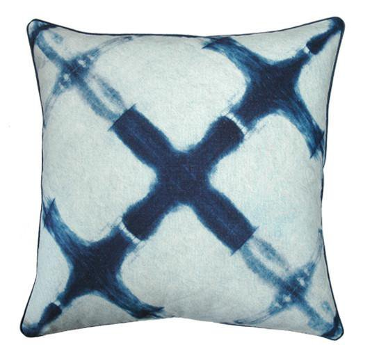 Shibori Cross Cushion Cover