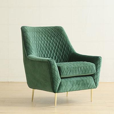 Superieur VELVET RETRO ARMCHAIR