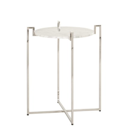 ABEL SILVER SIDE TABLE