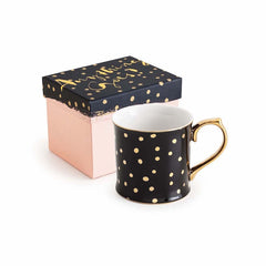 ANYTHING GOES MUG BLACK W/DOTS