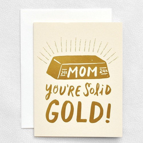 Solid Gold Mom Card - iDecorate