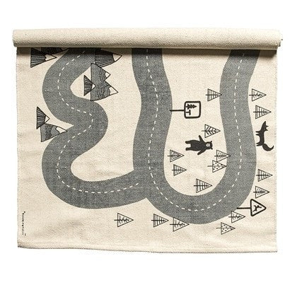 MAP PRINT COTTON RUG