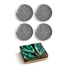 JET SETTER GREEK KEY PLATE (SET OF 4)