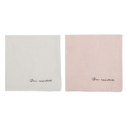 BON APETIT COTTON NAPKINS, SET OF 2