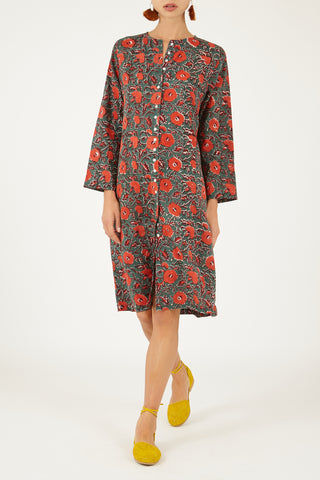 Indian cotton shirt dress