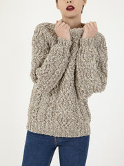 Irish hand knitted wool Aran sweater