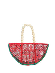 Colombian iraca palm watermelon bag handmade