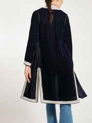 Morocco Velvet embroidered coat jacket handmade
