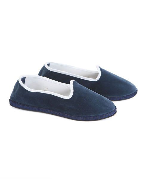 Handamde italian velvet friulane shoes
