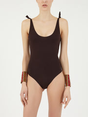 ISOLE & VULCANI for FOLKLOORE Vichy swimsuit