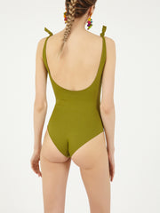 ISOLE & VULCANI for FOLKLOORE Avocado swimsuit