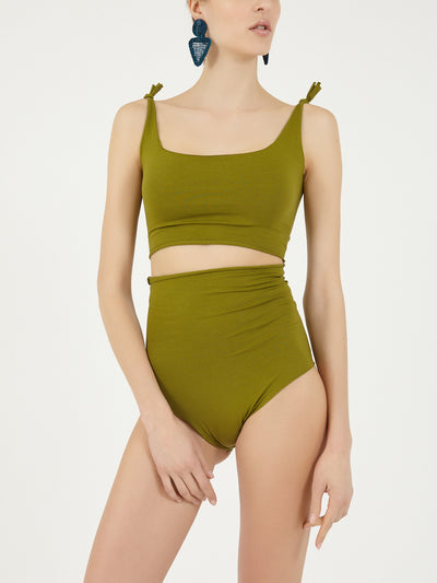 ISOLE & VULCANI for FOLKLOORE Avocado bikini set